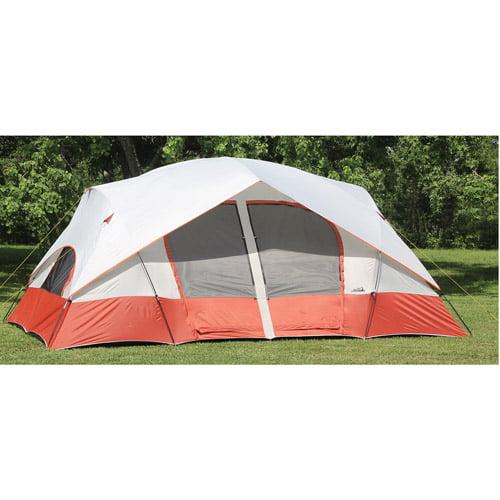 Texsport Bull Canyon 2-Room Cabin 15' x 9' Dome Tent, Sleeps 8