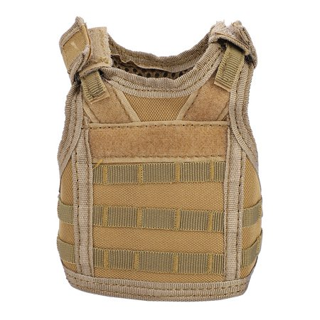 Hilitand Mini Tactical Military Molle Vest for Sofa Beer Bottle Can Beverage Decoration Cover, Beverage Molle