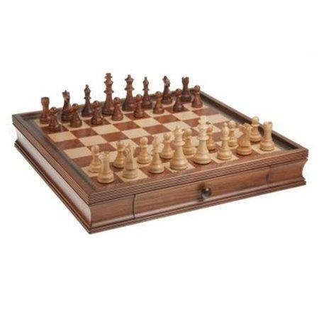 Chh Chess Set (CHH 1046 19 Inch Camphor Chess and Checker)