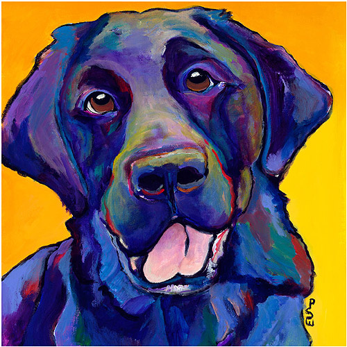 "Trademark Art ""Buddy"" Canvas Art by Pat Saunders-White"
