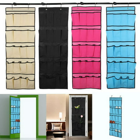 iMeshbean 20 Pocket Over the Door Shoe Organizer Space Saver Rack Hanging Storage Hanger (Dior Store)