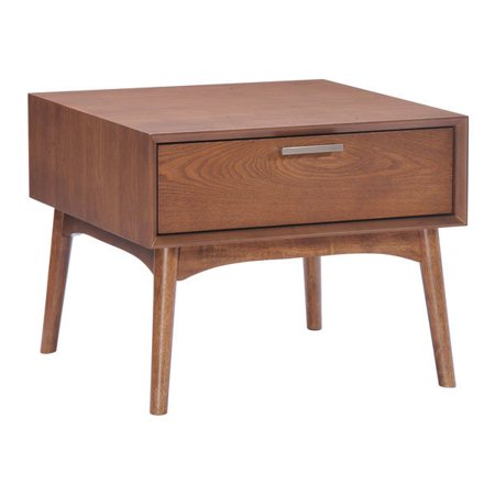 Walnut Veneer Mdf - District Side Table Walnut - Wood Veneer, MDF Rubberwood