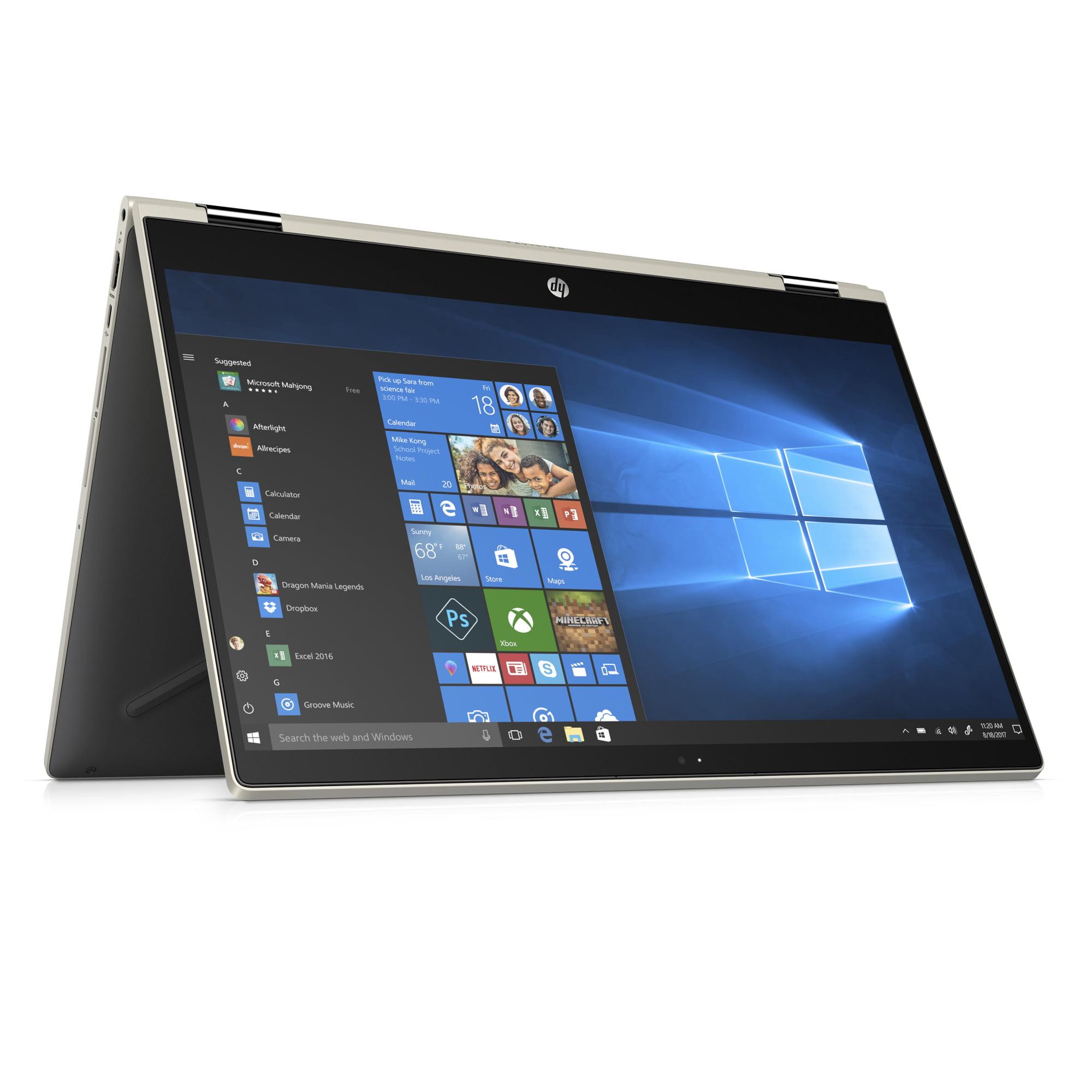 HP Pavilion 15-CR0076NR Pale Gold 15.6 inch Touch Laptop, Windows 10, Core i3-8130U DC Processor, 8GB Memory, 1TB Hard Drive, UMA Graphics, B&O Play