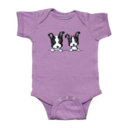 Boston Terriers (Dark Apparel) Infant Creeper - KiniArt