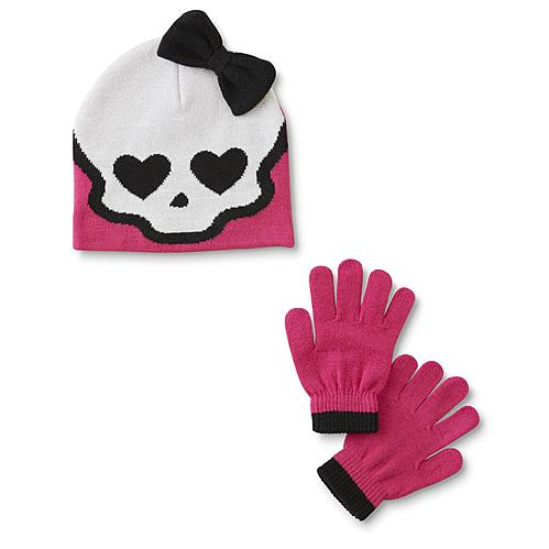 Mattel Monster High Girl's Beanie Hat & Gloves by