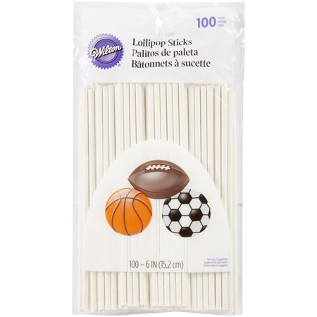 Other Baking Accessories New Wilton 8 Inches Lollipop Treat Red Sticks 25 Ct 8 Inch Home & Garden