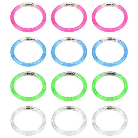 Set of 12 VT Flashing Clear LED Light Up Party Favor Toy Bracelets](Light Up Bracelets)