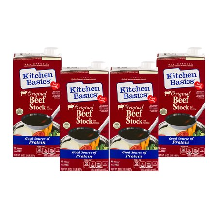 (3 Pack) Kitchen Basics All Natural Original Beef Stock, 32 fl