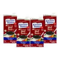 (3 Pack) Kitchen Basics All Natural Original Beef Stock, 32 fl oz