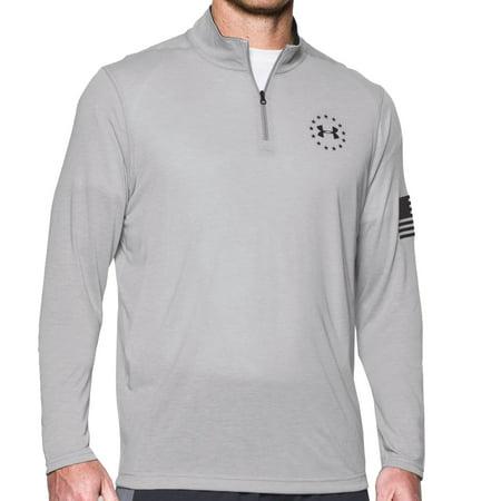 c0386a4c Under Armour - Under Armour Men's Freedom Threadborne™ ¼ Zip Long Sleeve  Shirt True Gray Heather / Black Small - Walmart.com
