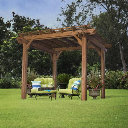 Leisure Time Products 10' x 10' Pergola - Backyard Discovery Cedar Pergola Compare Prices At Nextag