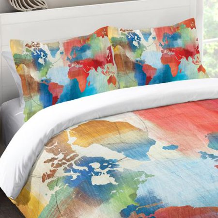Laural home colorful world map standard pillow sham walmart laural home colorful world map standard pillow sham gumiabroncs Image collections