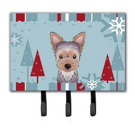 Carolines Treasures BB1728TH68 Winter Holiday Yorkie Puppy Leash & Key Holder - image 1 de 1
