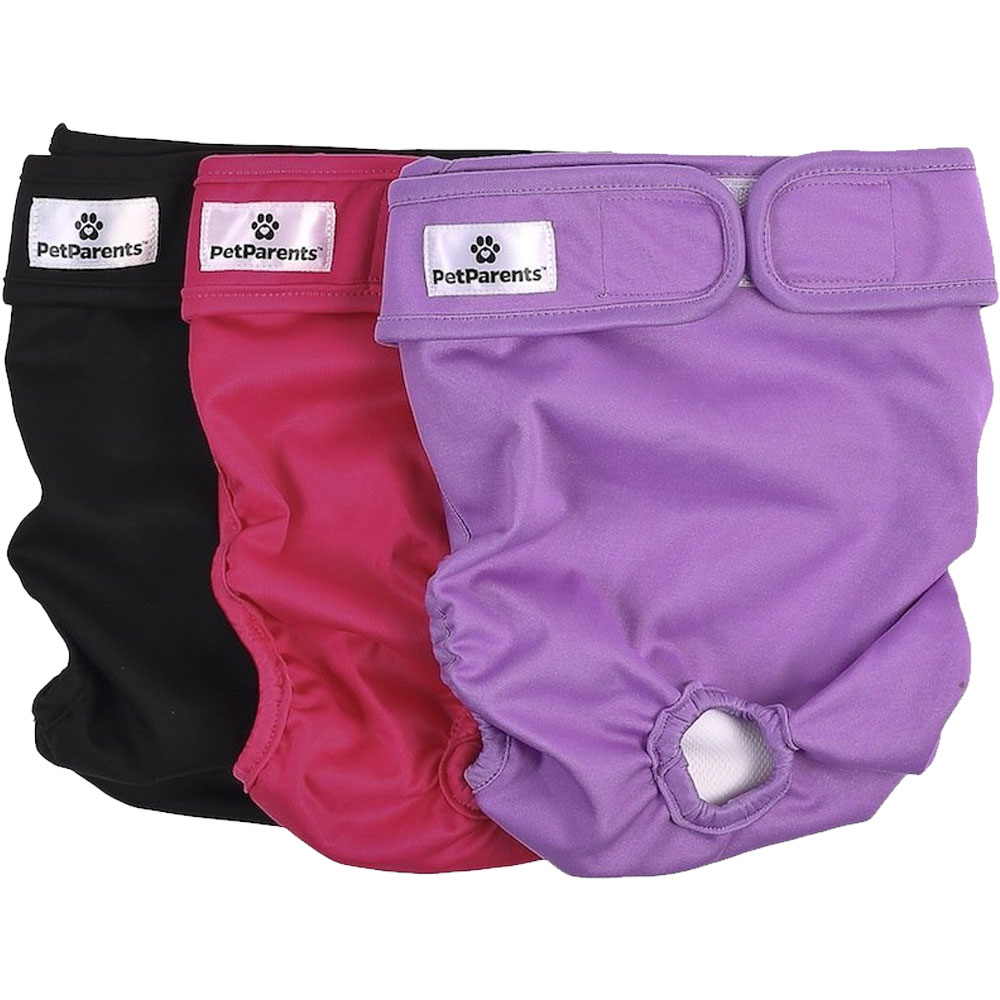 Pet Parents Washable Dog Diapers 3Pack  Princess Small