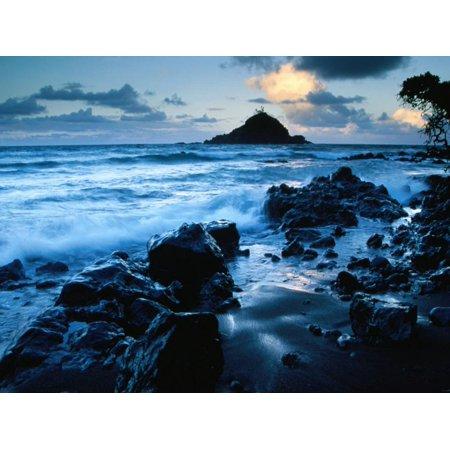 Alau Island from Koki Beach, Hana, Maui, Hawaii, USA Print Wall Art By Karl (Koki Beach Maui)