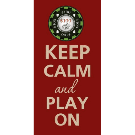 Keep Calm and Play Black Jack Gamble Poker - Birch Plywood Wood Print Poster Wall