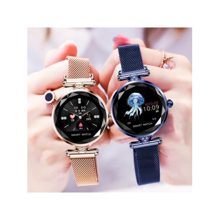 Fashion Women 3D Diamond Glass Dazzling Smart Bracelet Smart watch With Blood Pressure/ Heart Rate/ Sleep Monitor/ Predict Menstrual Circle/ Pedometer APP Connect for Android (Best Wake Up App Android)