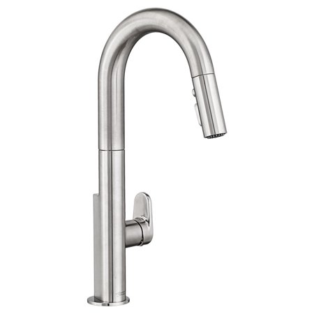 American Fibertek Single - American Standard Beale Pullout Spray Single Hole 1 Kitchen Faucet 4931.300.075 Stainless Steel