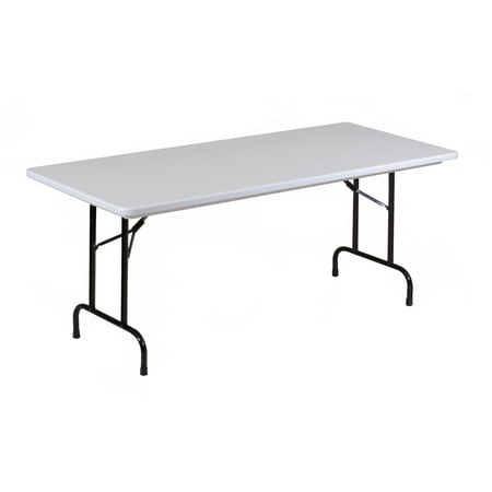 Correll Commercial Duty Plastic Top Folding Table. One-Piece Blow-Molded Plastic Top is Waterproof, Scratch, Stain, & Impact Resistant