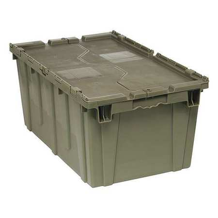 QUANTUM STORAGE SYSTEMS Attached Lid Container,2.5 cu ft,Gray QDC2717-12
