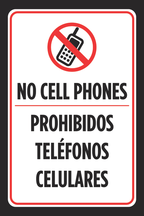 no cell phone signs to print