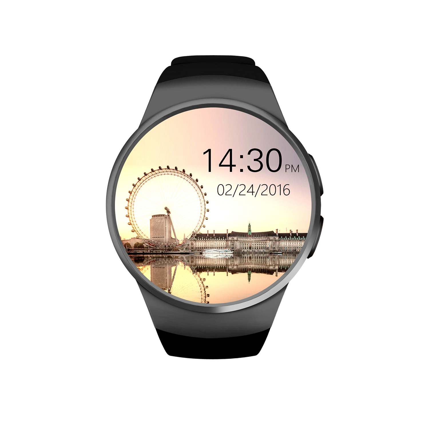 GPCT Smart Watch - Bluetooth [Android/iOS], Touch Screen, Water Resistant, Workout/Sleep/Heart Rate Monitor - Black