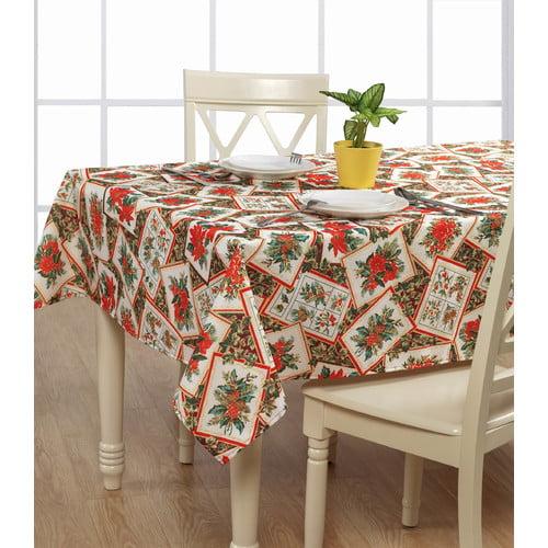The Holiday Aisle Propst Poinsettia Tablecloth Walmart Com Walmart Com