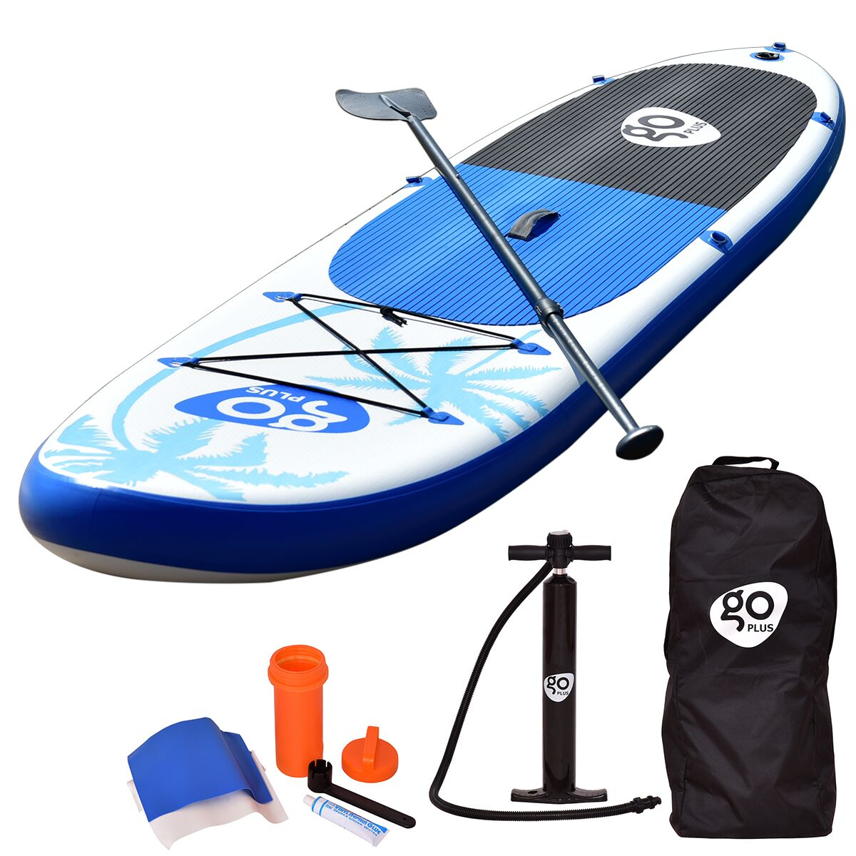 Costway Goplus 11' Inflatable Stand Up Paddle Board SUP w/ Fin Adjustable Paddle Backpack