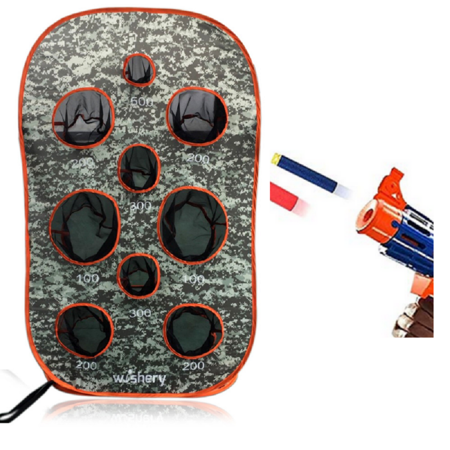 Wishery Kids Pop up target compatible with Nerf Gun. Great for target practice shooting. Nerf party, Birthday, wars. ()