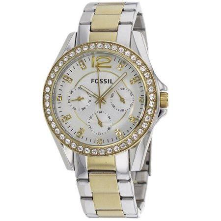 Fossil Women's Riley Watch Quartz Mineral Crystal ES3204