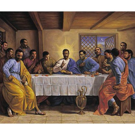 African American History Posters (African American Art Print - Last Supper - Poster New)