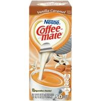 Coffee Mate Vanilla Caramel Liquid Coffee Creamer Singles, Lactose-Free Creamer, 0.375 Fl Oz, 50 Ct