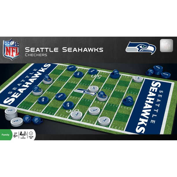 MasterPieces NFL Seattle Seahawks Team Checkers