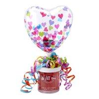 Valentines Day Clear Confetti Heart U Fill E'm