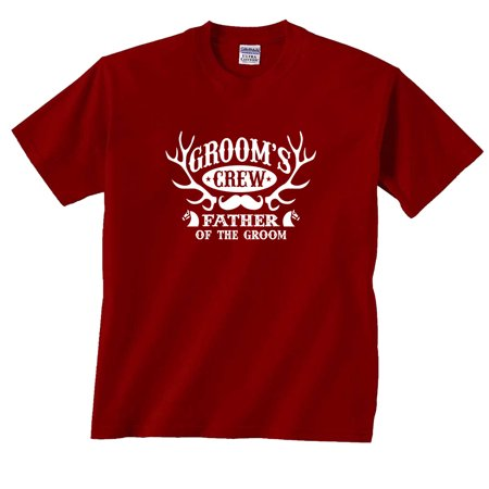 05d2b6134079f Groom's Crew Father of The Groom Antlers Wedding T-Shirt