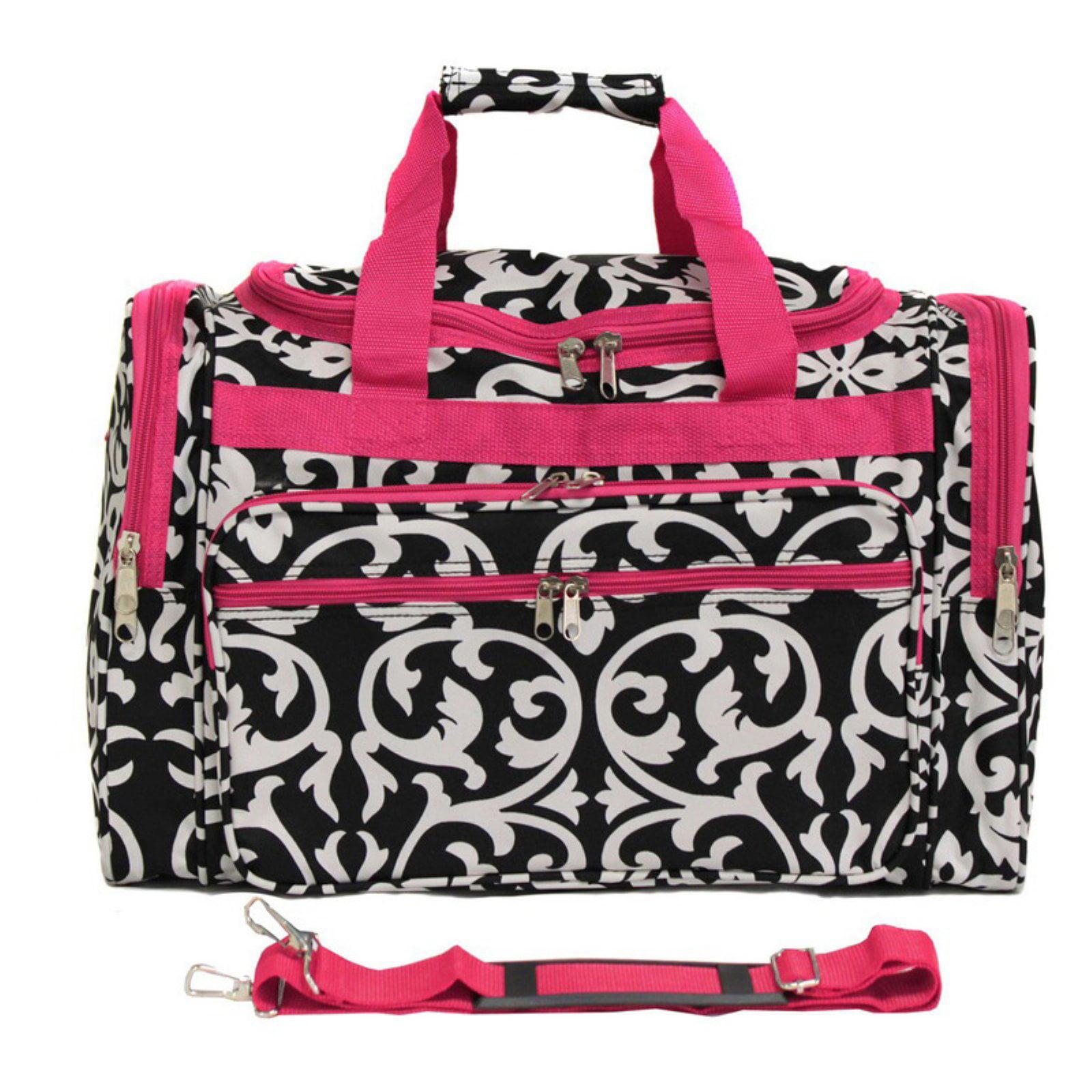 World Traveler Damask 22 in. Travel Duffel Bag by