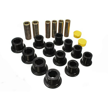Energy Suspension 00-04 Ford Excursion 4WD / 99-04 F250/F350 4WD Black Front Leaf Spring Bushing Set