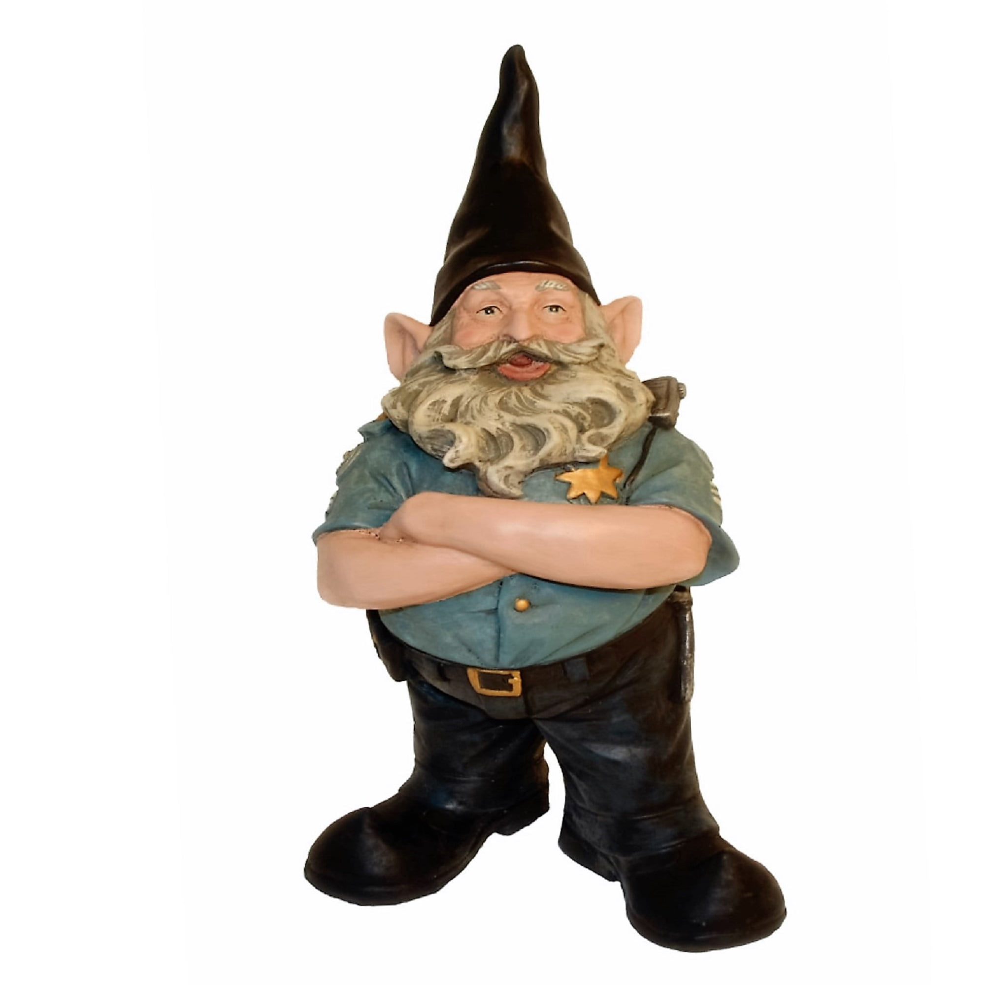 "Nowaday Gnomes ""Policeman the Hero"" Garden Gnome Police Officer Cop Figurine... by GSI Homestyles"