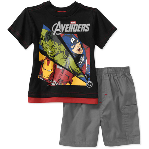 Marvel Baby Boys' Avengers 2-Piece Tee and Short Set