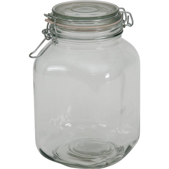 mainstays 67 oz clear glass jar with clamp lid. Black Bedroom Furniture Sets. Home Design Ideas