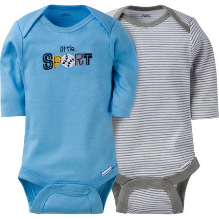 Gerber Boy Long Sleeve Onesies - 2 Pack - Newborn