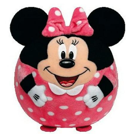 Pink And White Minnie Mouse (Ty Inc. Beanie Ballz Plush Stuffed Animal Pink Minnie Mini)