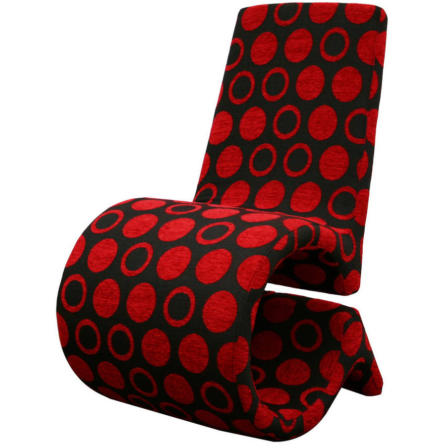 Impressive Red Pattern Accent Chair Collection