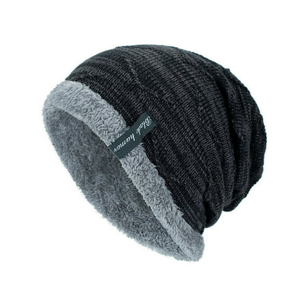 Men's Boy Knit Wool Beanie Soft Hats Winter Warm Ski Slouch Baggy Outdoor Caps Camouflage Slouch Hat