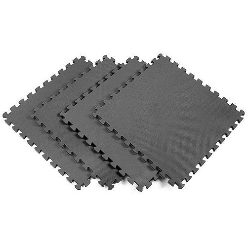 Norsk 240247 Interlocking Multi-Purpose Foam Floor Mats, 16-Square Feet, Solid Gray, 4-Pack