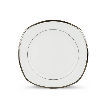 Solitaire Square Accent Plate, White, Crafted of Lenox ivory fine china By Lenox