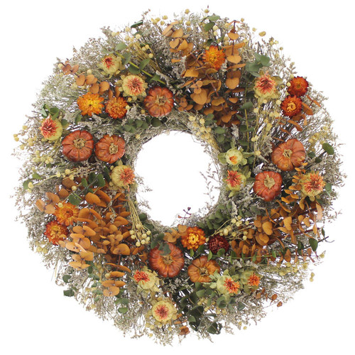 Urban Florals Spicy Pepper Harvest 18'' Natural Elements Wreath