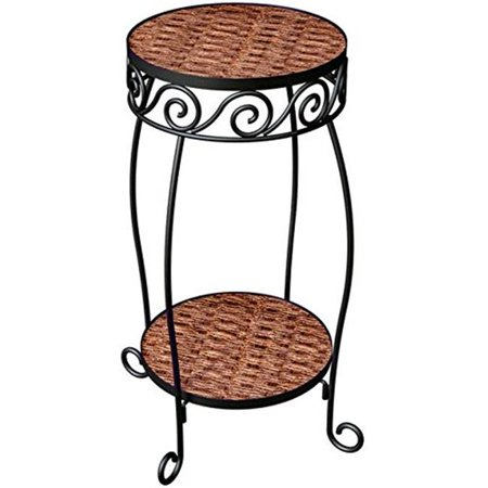 Products  20 in. Double Resin Woven Steel Plant Stand