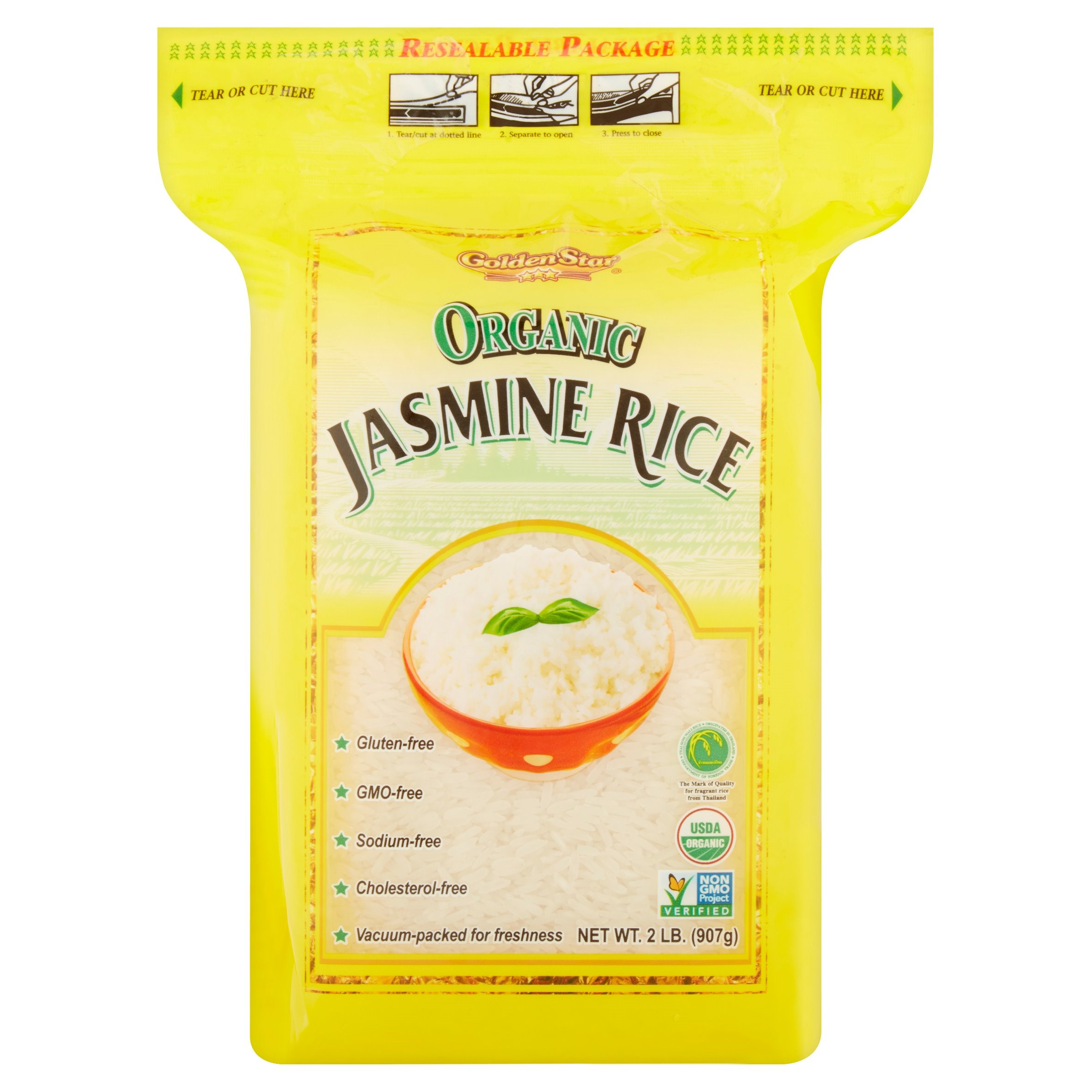 Golden Star Organic Jasmine Rice, 2 lb