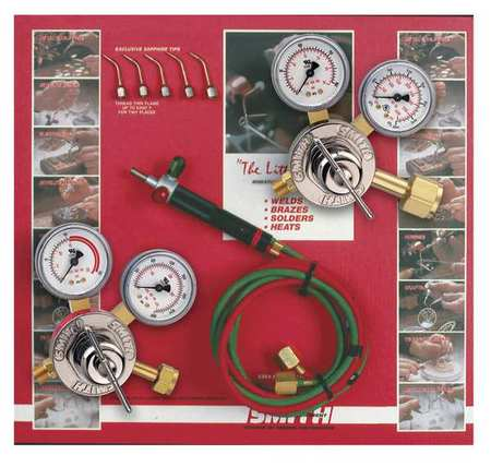 MILLER SMITH EQUIPMENT 23-1003P Gas Welding Outfit, 30-15...